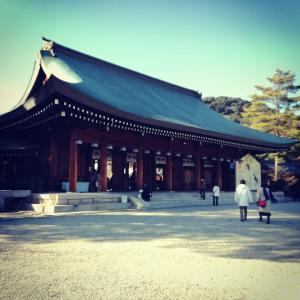 橿原神宮の外拝殿の写真