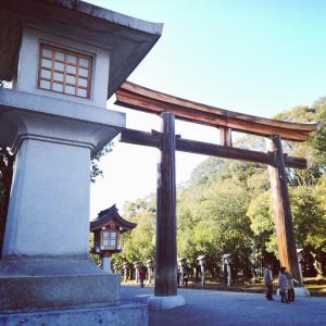 橿原神宮の鳥居の写真