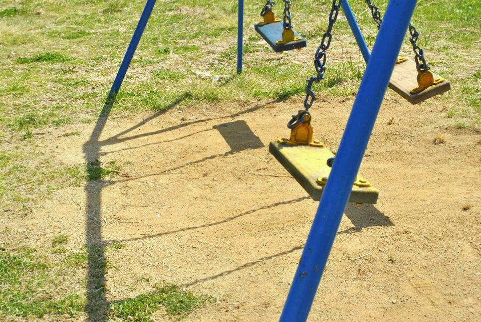 公園のブランコの写真