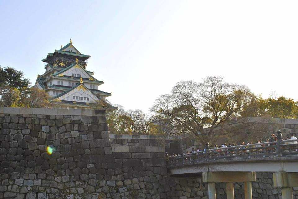 大阪城に到着しました