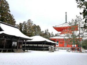 雪の高野山のPhoto 写真