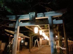 名古曽蛭子神社 写真 夜 Phot