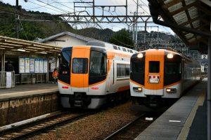 吉野口駅で近鉄とJRの乗り換え